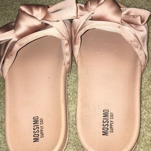 Pink satin sides (price negotiable, worn once)